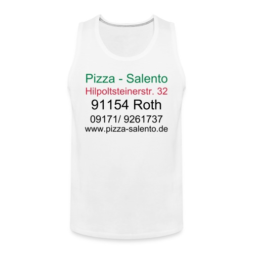 pizza- salento shirt - Männer Premium Tank Top