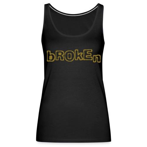 Broken sleeveless shirt (metallic gold) - Women's Premium Tank Top