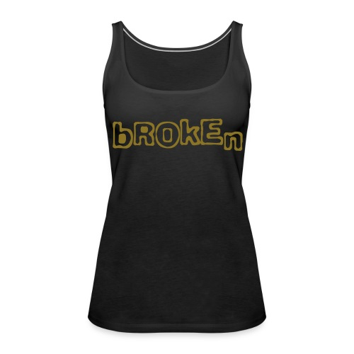 Broken sleeveless shirt (metallic gold) - Women's Premium Tank Top
