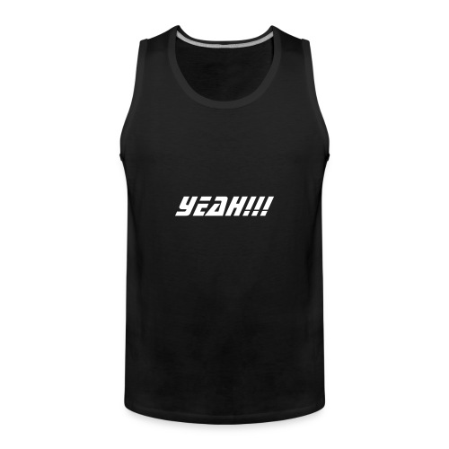 Black Men's Tank Top - Yeah!!! - Men's Premium Tank Top