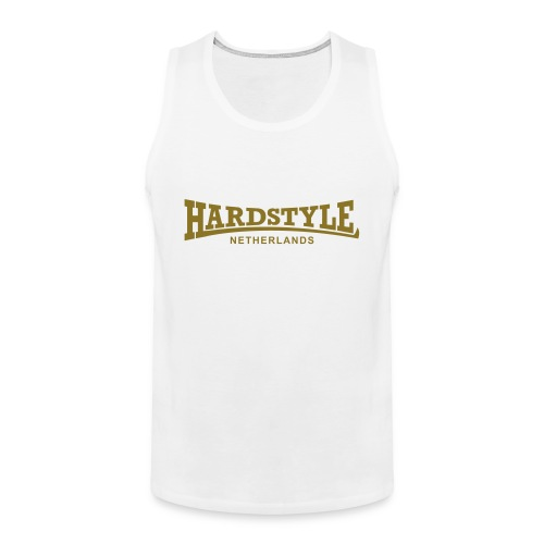Hardstyle Netherlands - Gold - Men's Premium Tank Top