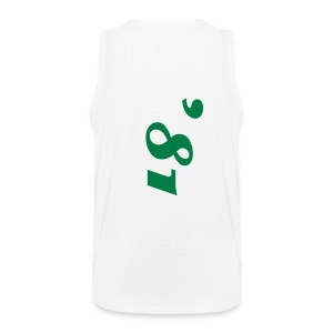 LuciWear Tank-Top White & Green - Mannen Premium tank top