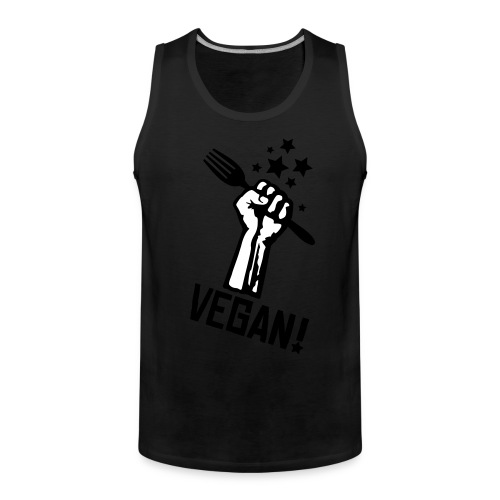 Mens Muscle 'rising fist VEGAN!' - Männer Premium Tank Top