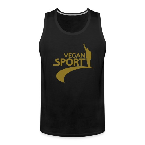 Mens 'VEGAN SPORT' Muscle GOLD - Männer Premium Tank Top