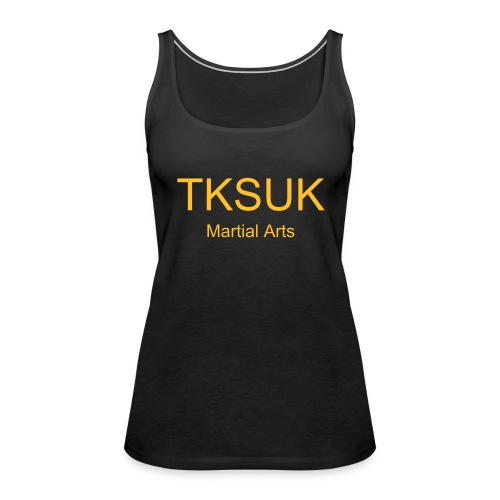 Black/Yellow TKSUK Training Vest - Women's Premium Tank Top