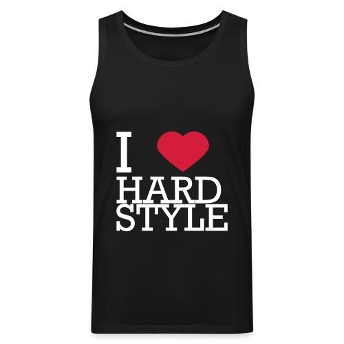 I Love Hardstyle Tee - Mannen Premium tank top