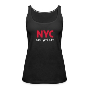 "Top ""NYC"" schwarz - Frauen Premium Tank Top"