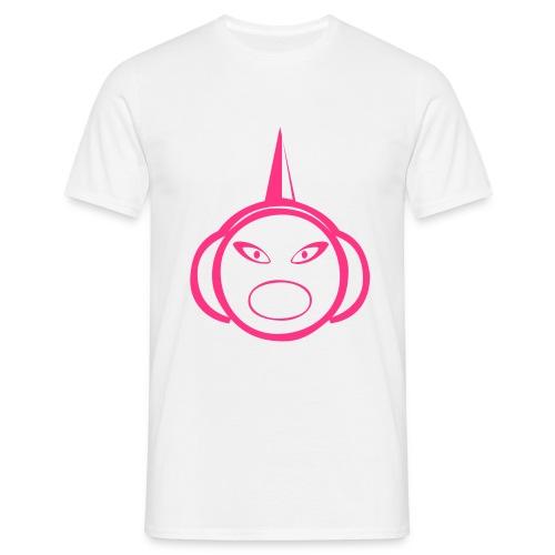 DJ Spike - DJ T-Shirt - Neon Pink Print - Men's T-Shirt