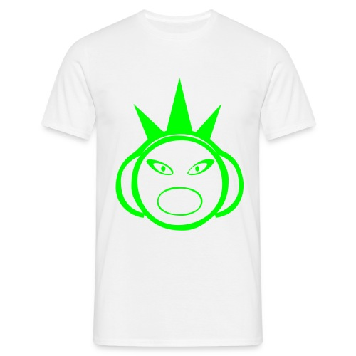 DJ 3 Spikes - DJ T-Shirt - Neon Green Print - Men's T-Shirt
