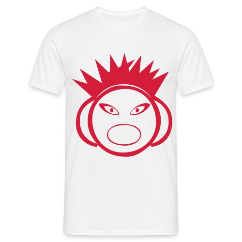 DJ Spikey - DJ T-Shirt - Red Print - Men's T-Shirt