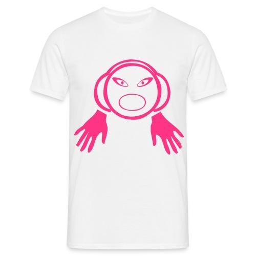 DJ Hands - DJ T-Shirt - Neon Pink Print - Men's T-Shirt