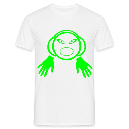DJ Hands - DJ T-Shirt - Neon Green Print - Men's T-Shirt