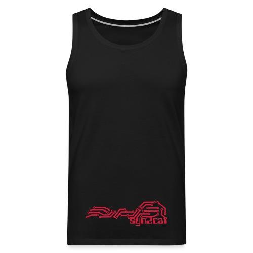 men's syn2cat muscle shirt - Men's Premium Tank Top