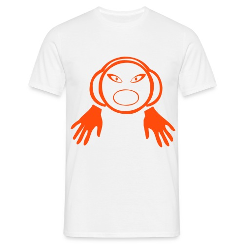 DJ Hands - DJ T-Shirt - Neon Orange Print - Men's T-Shirt