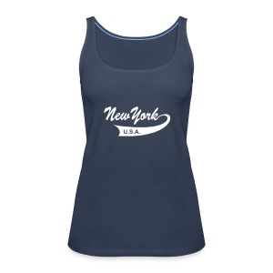 "Spaghetti-Top ""NEW YORK USA"" türkis - Frauen Premium Tank Top"