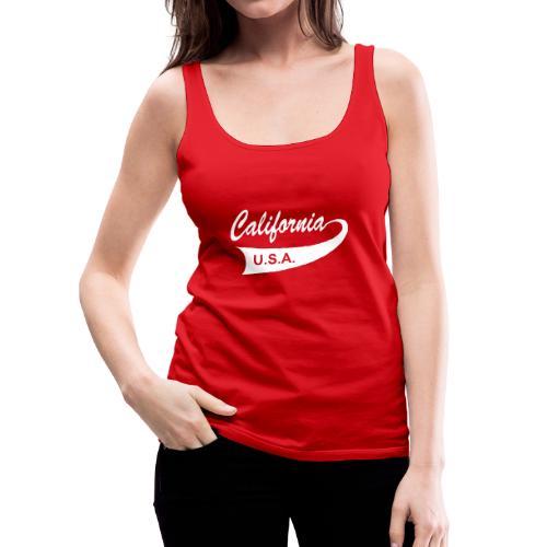 "Spaghetti-Top ""CALIFORNIA USA"" rot - Frauen Premium Tank Top"