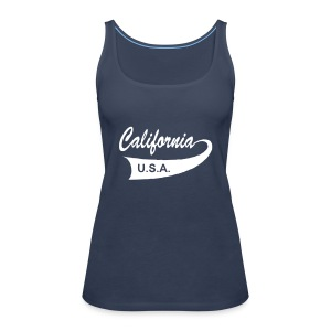 "Spaghetti-Top ""CALIFORNIA USA"" türkis - Frauen Premium Tank Top"