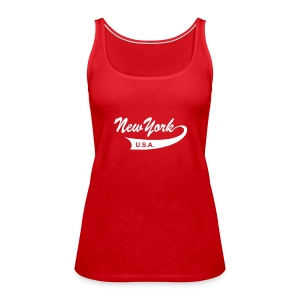 "Spaghetti-Top ""NEW YORK USA"" rot - Frauen Premium Tank Top"