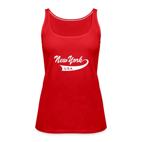 "Spaghetti-Top ""NEW YORK USA"" rot - Frauen Premium Tank Top"