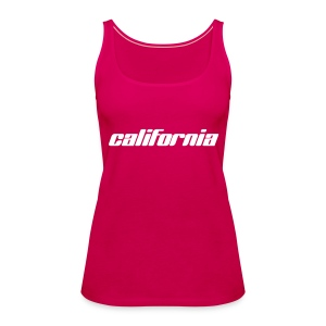 "Spaghetti-Top ""california"" pink - Frauen Premium Tank Top"
