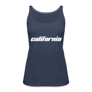 "Spaghetti-Top ""california"" sky blue - Frauen Premium Tank Top"