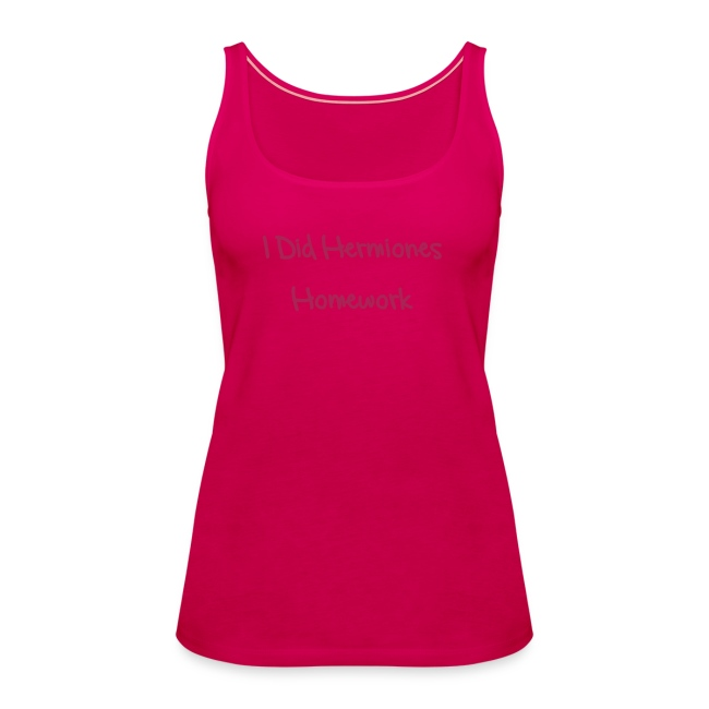 'Hermiones Homework - LS' Ladies Tank