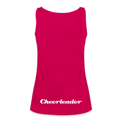 Cheerleader, Vit text - Premiumtanktopp dam