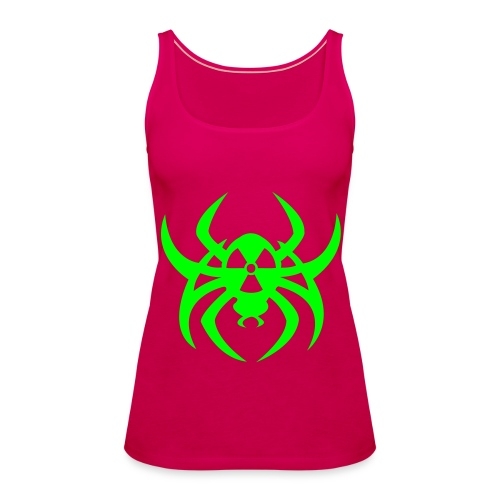 Radioactive spider - Neongreen - Women's Premium Tank Top