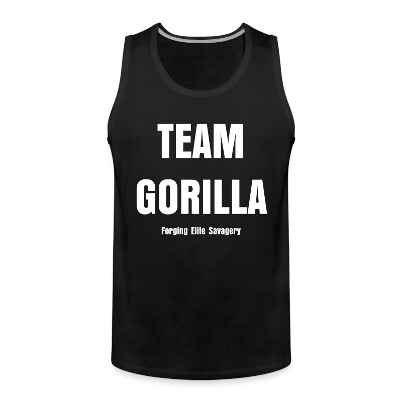 Team Gorilla Mens Black GET STRONGER Tank - Men's Premium Tank Top