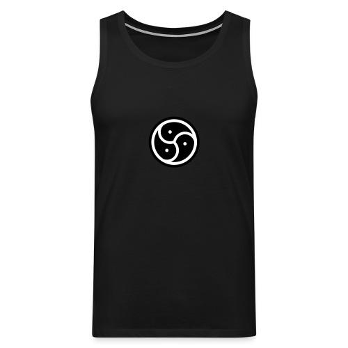 Herre shirt uden ærmer med BDSM-logo - Herre Premium tanktop