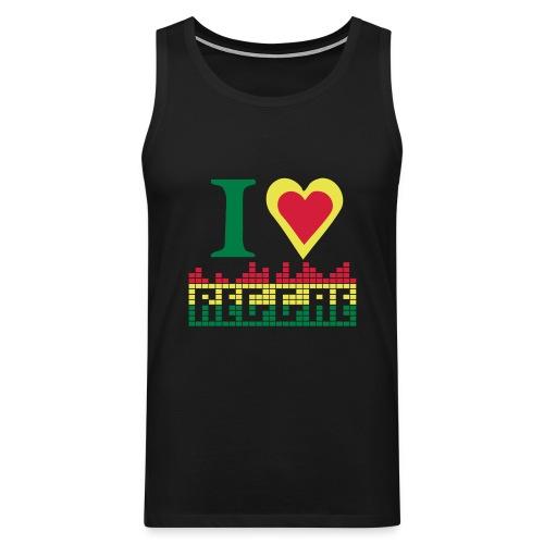 I LOVE REGGAE - Men's Premium Tank Top