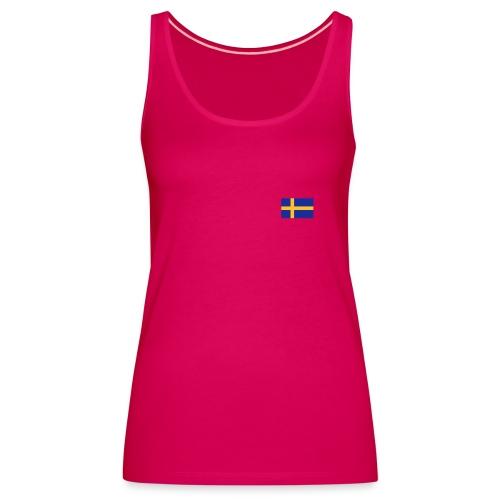 Schulterfreies Schweden-Top mit schwedischer Fahne - Frauen Premium Tank Top
