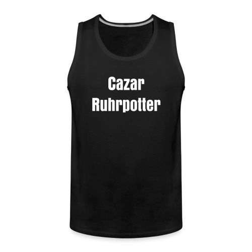 Tank Top with 'CAZAR' inscription - Männer Premium Tank Top