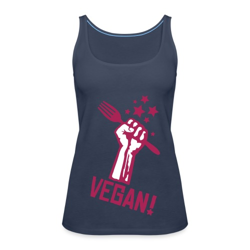 Womens Spaghetti-Top 'RF VEGAN!' - Frauen Premium Tank Top