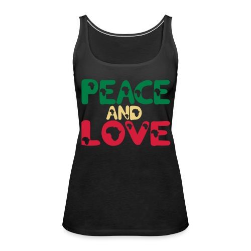 PEACE AND LOVE AFRICA T-SHIRT - Women's Premium Tank Top