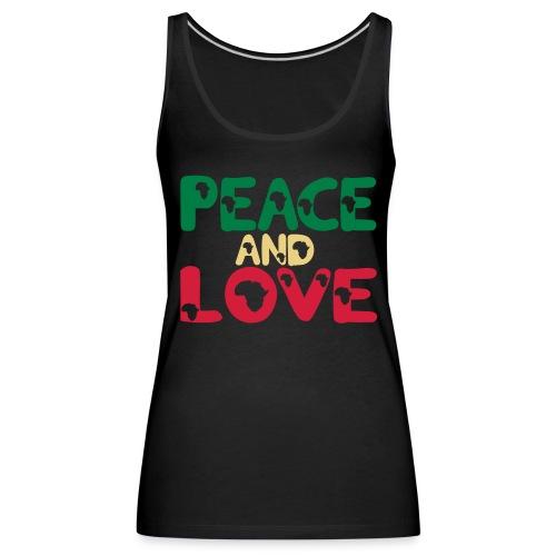 PEACE AND LOVE AFRICA T-SHIRT - Women's Premium Tank Top