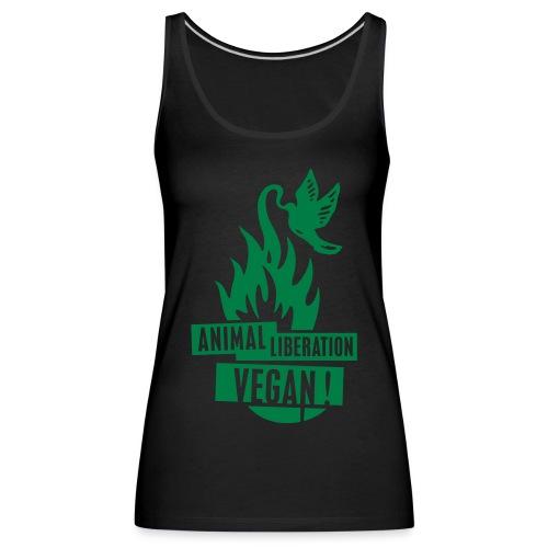 Womens Tank-Top 'animal liberation vegan' - Frauen Premium Tank Top