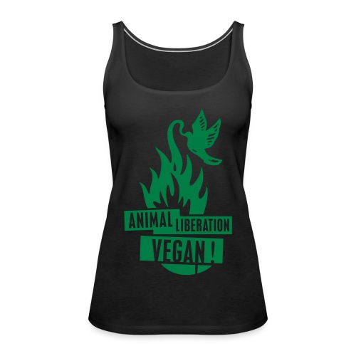 Womens Tank-Top 'animal liberation vegan' - Frauen Premium Tank Top
