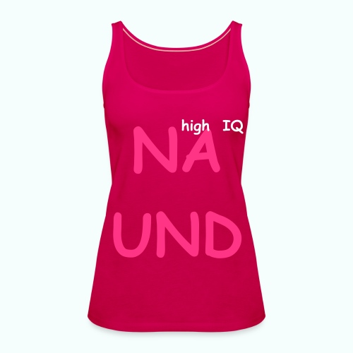 ...high IQ - Women's Premium Tank Top