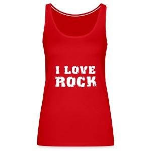 T-Shirt i Love Rock - Débardeur Premium Femme