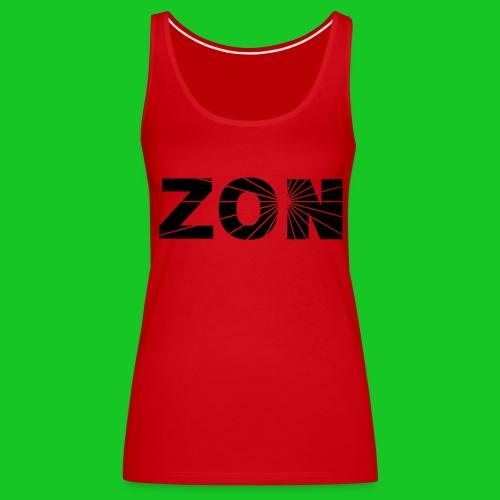 zon damestank rood - Vrouwen Premium tank top