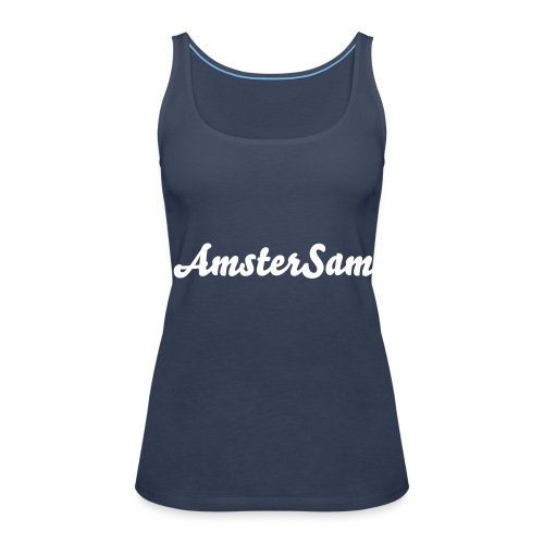 Women's Spaghetti top 'AmsterSam' Sky Blue/White. - Women's Premium Tank Top