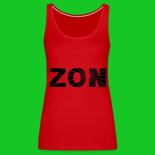 zon dameshempje rood - Vrouwen Premium tank top