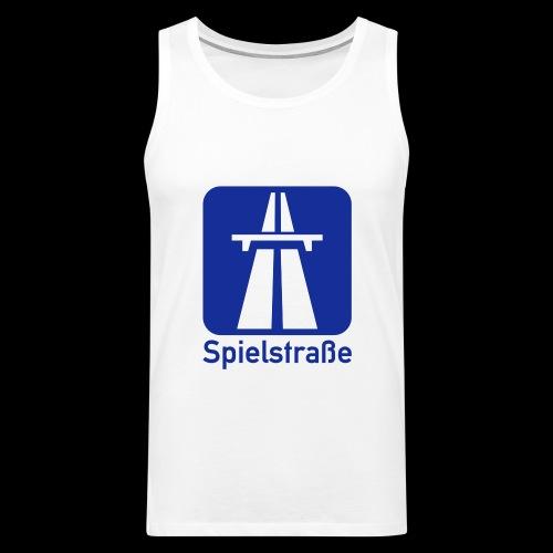 Spielstraße BAB - blau/weiß Druck - Männer Premium Tank Top