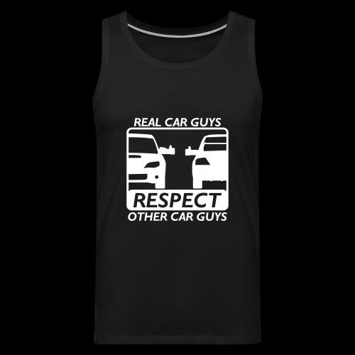 Real car guys - weißer Druck - Männer Premium Tank Top