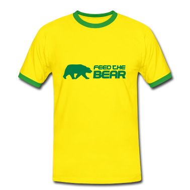 Yellow/green Feed The Bear Men's T-Shirts