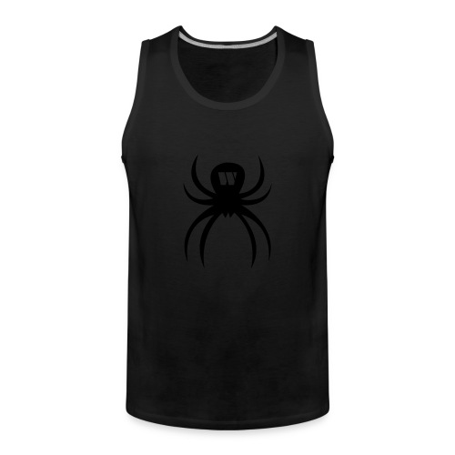 Stealth Spider Men's Sports Tank Top, black, F/B - Men's Premium Tank Top