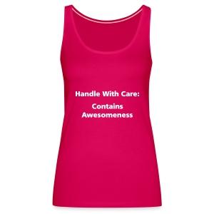SPAGHETTI VEST: Handle with care - Women's Premium Tank Top