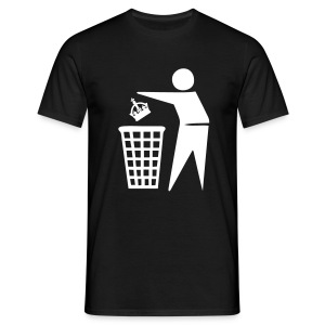 Bin the Monarchy - Men's T-Shirt