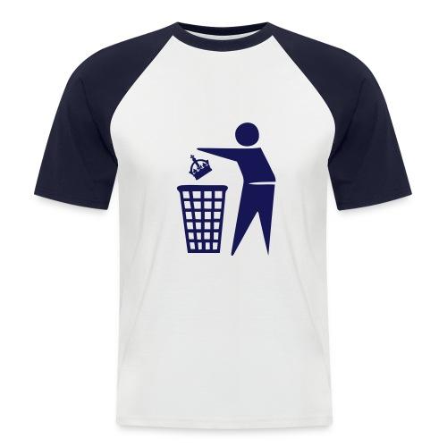 Bin the Monarchy - Men's Baseball T-Shirt
